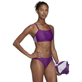 adidas Fit 3-Stripes Infinitex Bañadores Mujer, glory purple